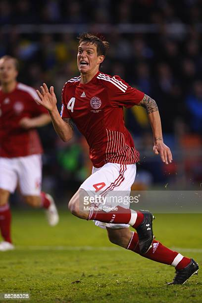 Daniel Agger of Denmark during the FIFA2010 World Cup Qualifying Group 1 match between Sweden and Denmark at the Rasunda Stadium on June 6, 2009 in...