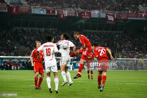 Daniel AGGER of Liverpool and Paolo MALDINI of Milan during the Champions League Final match AC Milan and Liverpool at Spiros Louis Olympic Stadium,...