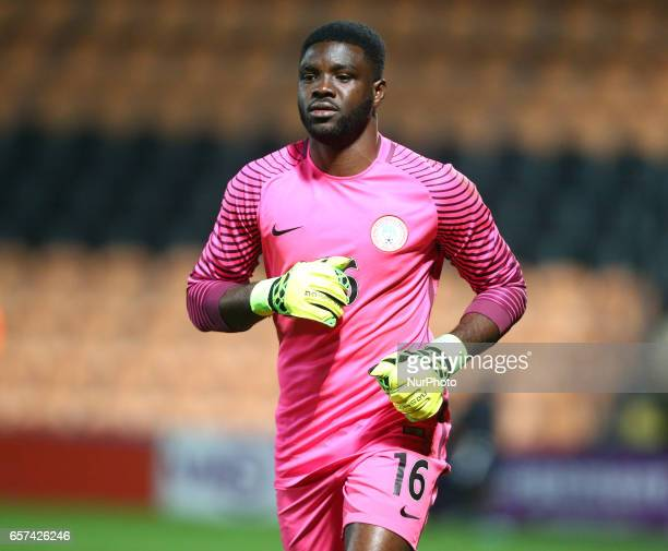Daniel Akpeyi of Nigeria during International Friendly match between Nigeria against Senegal at The Hive Barnet FC on 23rd March 2017