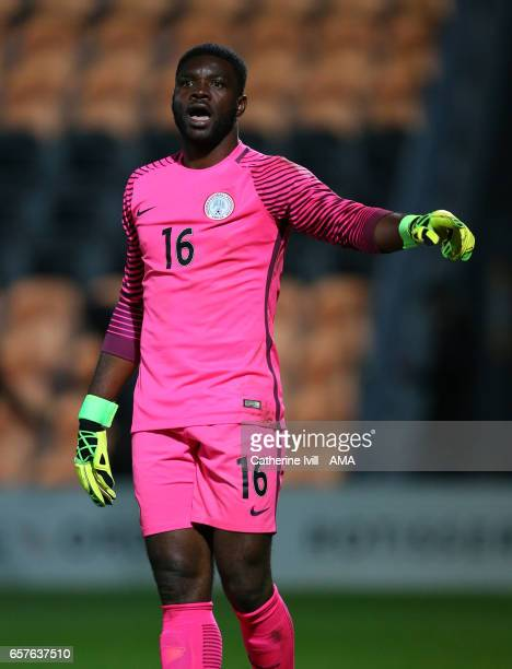 Daniel Akpeyi of Nigeria during the International Friendly match between Nigeria and Senegal at The Hive on March 23 2017 in Barnet England