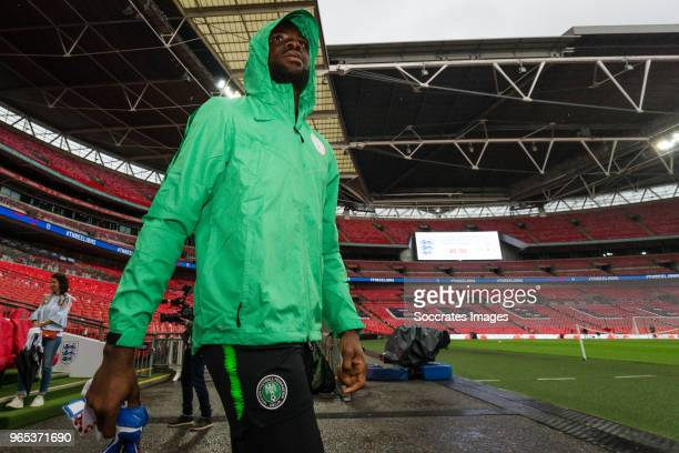 Daniel Akpeyi of Nigeria during the Nigeria Training at the Wembley Stadium on June 1 2018 in London United Kingdom