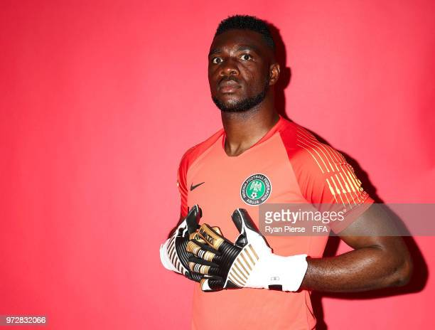 Daniel Akpeyi of Nigeria poses during the official FIFA World Cup 2018 portrait session on June 12 2018 in Yessentuki Russia