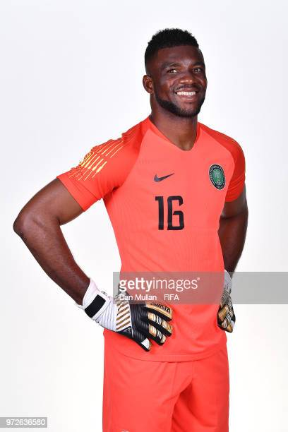 Daniel Akpeyi of Nigeria poses for a portrait during the official FIFA World Cup 2018 portrait session on June 12 2018 in Yessentuki Russia