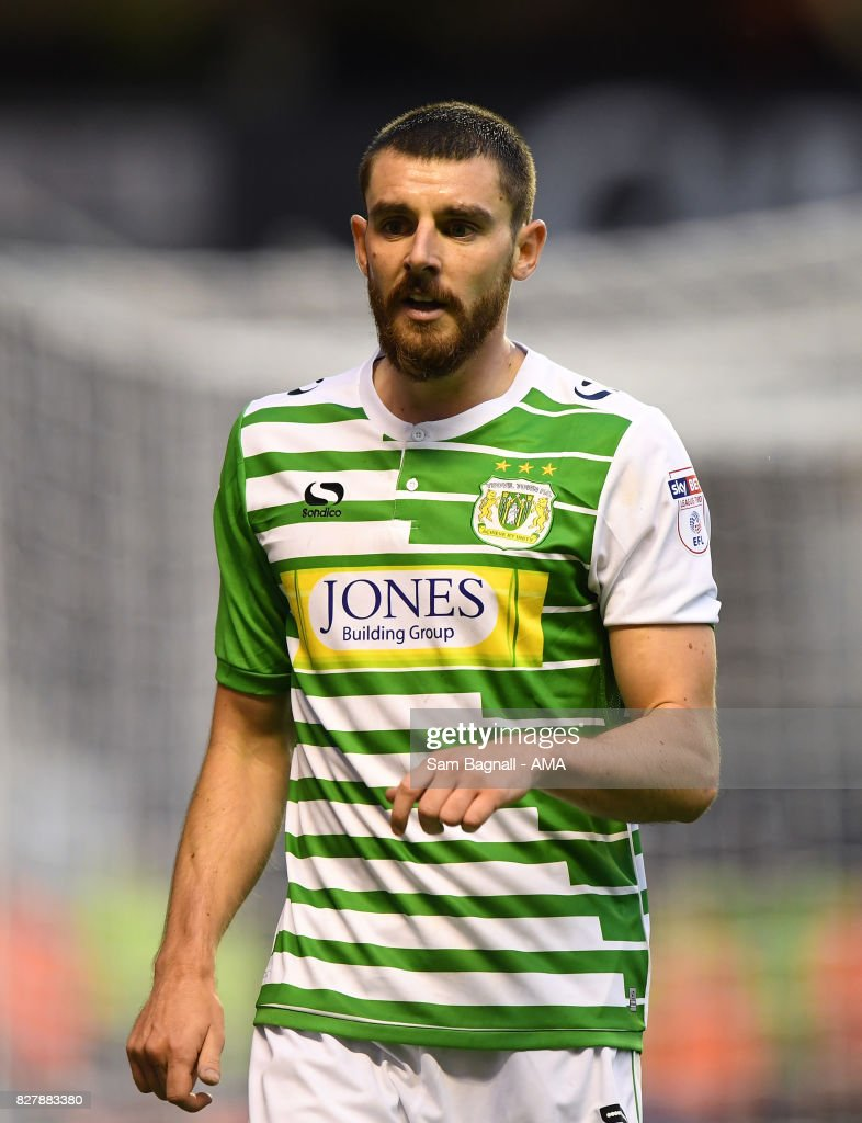 Daniel Alfie of Yeovil Town during the Carabao Cup First Round match between Wolverhampton Wanderers and Yeovil Town at Molineux on August 8, 2017 in Wolverhampton, England.