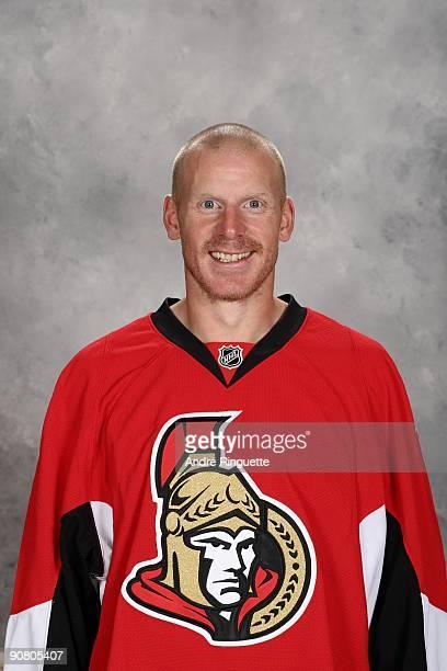 Daniel Alfredsson of the Ottawa Senators poses for his official headshot for the 20092010 NHL season