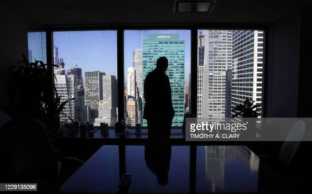 Daniel Alpert, managing partner of Westwood Capital, is seen in his office on Fifth Avenue in New York October 15, 2020. - The life of a Wall Street...