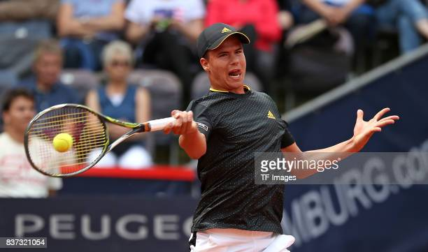 Daniel Altmaier of Germany in action during the International German Open at Rothenbaum on July 24 2017 in Hamburg Germany