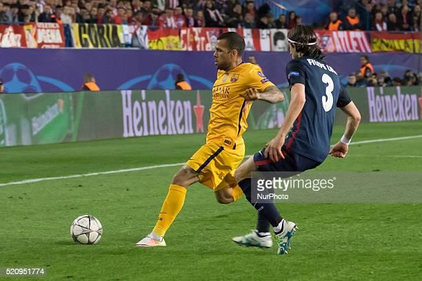 Daniel Alves da Silva of Barcelona during the UEFA Champions League quarter final second leg match between Club Atletico de Madrid and FC Barcelona...