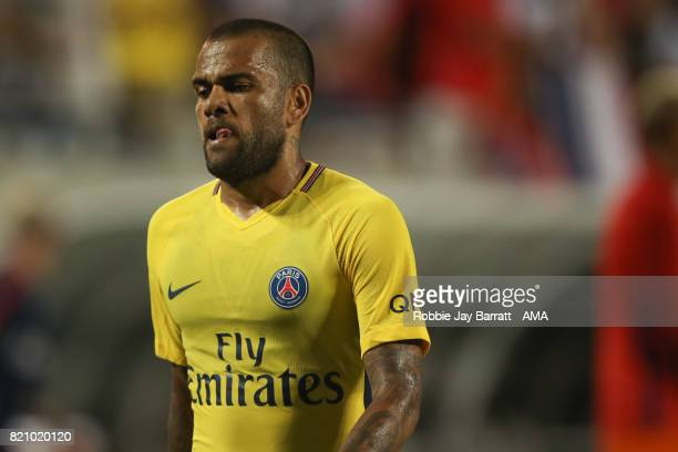 Daniel Alves of Paris SaintGermain during the International Champions Cup match between Paris SaintGermain and Tottenham Hotspur on July 22 2017 in...