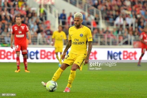 Daniel Alves of PSG during the Ligue 1 match between Dijon FCO and Paris Saint Germain at Stade Gaston Gerard on October 14 2017 in Dijon