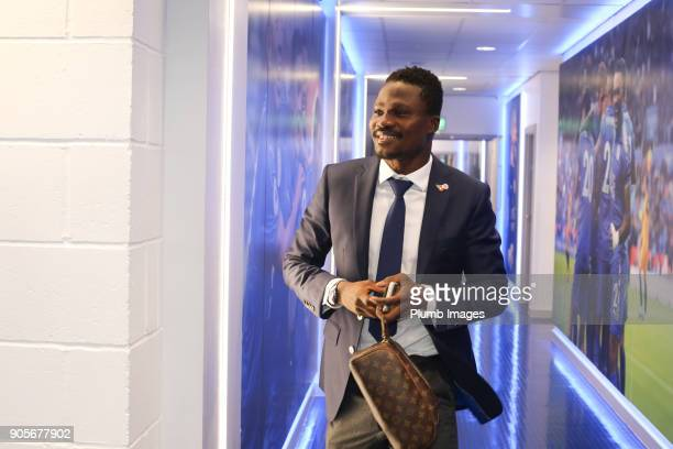 Daniel Amartey of Leicester City arrives at King Power Stadium ahead of The Emirates FA Cup Third Round Replay between Leicester City and Fleetwood...