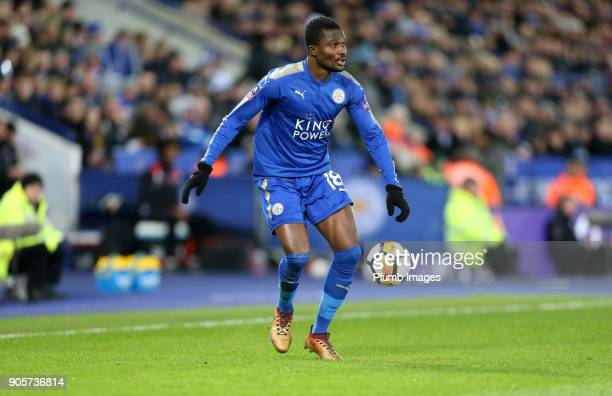 Daniel Amartey of Leicester City during The Emirates FA Cup Third Round Replay between Leicester City and Fleetwood Town at King Power Stadium on...