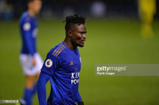 Daniel Amartey of Leicester City during the Leicester City U23 v Villarreal B PL International Cup at Holmes Park on December 18th 2019 in Leicester...