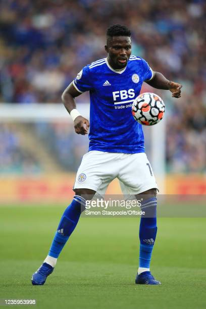 Daniel Amartey of Leicester City in action during the Premier League match between Leicester City and Manchester United at The King Power Stadium on...