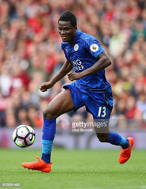 Daniel Amartey of Leicester City in action during the Premier League match between Manchester United and Leicester City at Old Trafford on September...