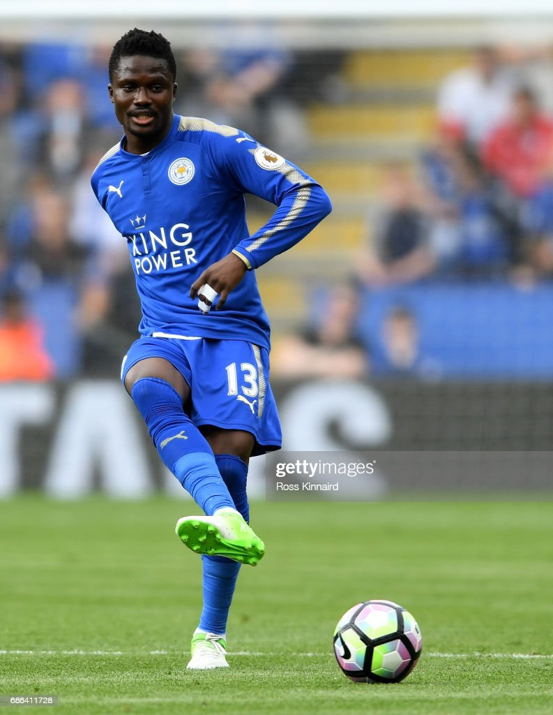 Daniel Amartey of Leicester City in action during the Premier League match between Leicester City and AFC Bournemouth at The King Power Stadium on May 21, 2017 in Leicester, England.