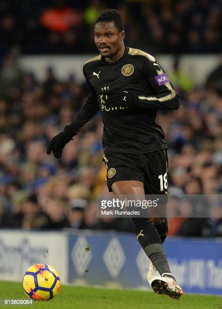 Daniel Amartey of Leicester City in action during the Premier League match between Everton and Leicester City at Goodison Park on January 31 2018 in...