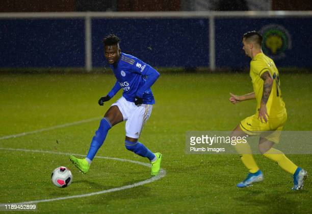Daniel Amartey of Leicester City with Alejandro Millán Iranzo of Villarreal during the Leicester City U23 v Villarreal B PL International Cup at...