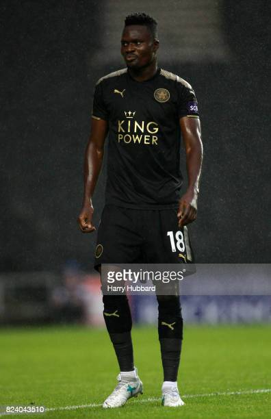 Daniel Amartey of Leicester in action during the preseason friendly match between MK Dons and Leicester City at StadiumMK on July 28 2017 in Milton...