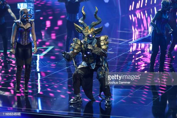 Daniel Aminati performs during the The Masked Singer finals at Coloneum on August 01 2019 in Cologne Germany