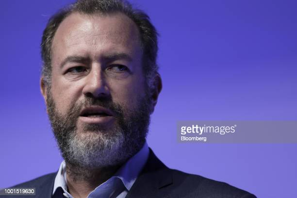 Daniel Ammann president of General Motors Co speaks at the SoftBank World 2018 event in Tokyo Japan on Thursday July 19 2018 SoftBank Group Corp and...