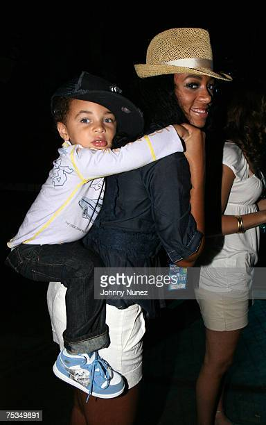Daniel and Solange Knowles attend the 2007 Essence Music Festival at the Louisiana Superdome July 6 2007 in New Orleans Louisiana