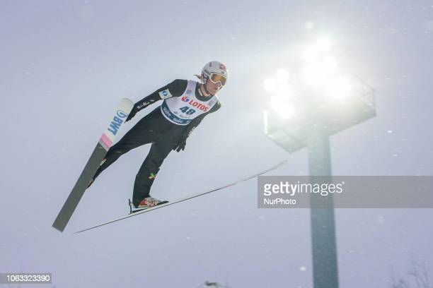 Daniel Andre Tande competes during FIS Ski Jumping World Cup 20182019 Men's HS134 on November 18 2018 in Wisla Poland