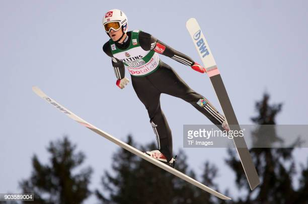 Daniel Andre Tande of Norway competes during the FIS Ski Jumping World Cup on December 09 2017 in TitiseeNeustadt Germany