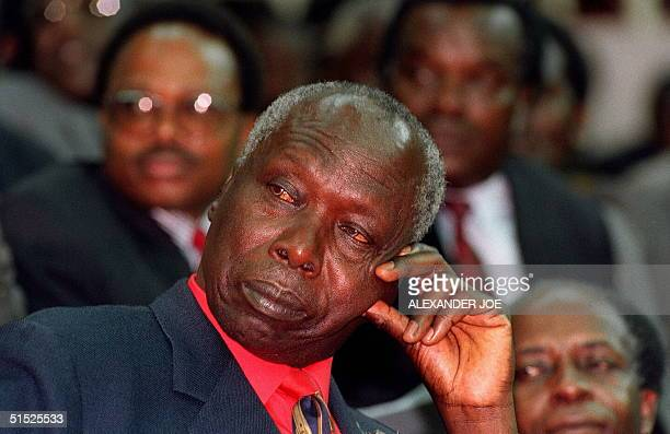 Daniel Arap Moi Kenya's President and leader of the ruling Kenyan African National Union party shown in a picture dated 28 December 1992 as he...