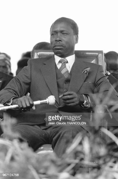 Daniel arap Moi Président de la République le jour de son investiture le 14 octobre 1978 à Nairobi au Kenya