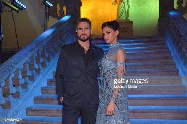 Daniel Arenas and Livia Brito pose for photos during the presentatiion of the serie 'Medicos' latin adaptacion of Greys Anatomy on November 7 2019 in...