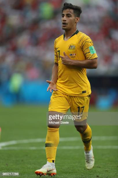 Daniel Arzani of Australia during the 2018 FIFA World Cup Russia group C match between Australia and Peru at Fisht Stadium on June 26 2018 in Sochi...
