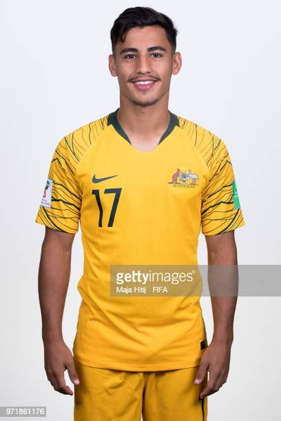 Daniel Arzani of Australia poses for a portrait during the official FIFA World Cup 2018 portrait session at Trudovyne Rezeny on June 11 2018 in Kazan...