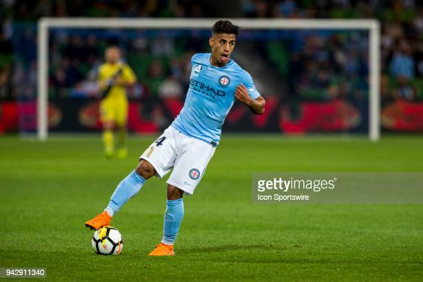 Daniel Arzani of Melbourne City looks for options during Round 26 of the Hyundai ALeague Series between Melbourne City and the Central Coast Mariners...