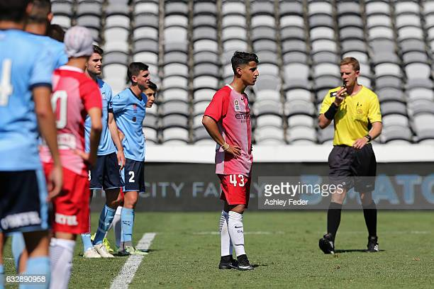 Daniel Arzani of Melbourne City prepares for a penalty during the 2017 Youth League Grand Final match between Melbourne City FC and Sydney FC at...