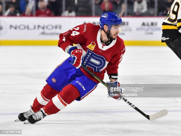 Daniel Audette of the Laval Rocket skates against the Providence Bruins during the AHL game at Place Bell on March 20 2019 in Laval Quebec Canada The...
