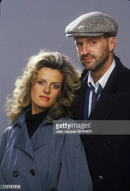 Daniel Auteuil and his wife Anne Jousset on February 18th1985