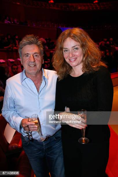 Daniel Auteuil and Marine Delterme attend Depardieu Chante Barbara at Le Cirque d'Hiver on November 6 2017 in Paris France