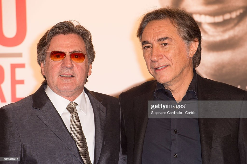 Daniel Auteuil and Richard Berry attend the Tribute to Jean Paul Belmondo and Opening Ceremony of the Fifth Lumiere Film Festival, in Lyon.
