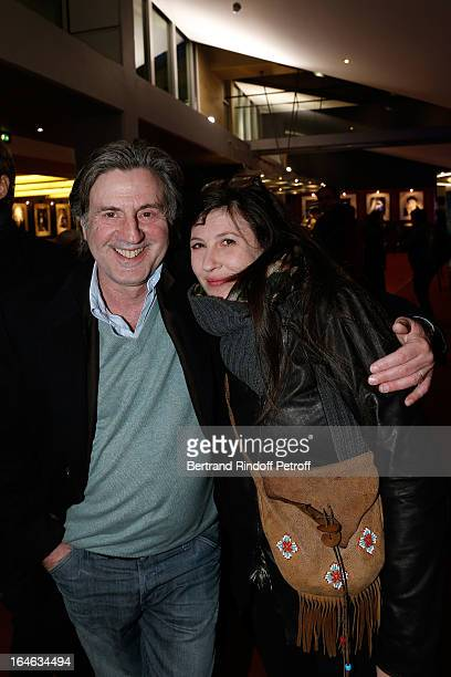 Daniel Auteuil and wife Aude attend 'Une Chanson Pour Ma Mere' movie premiere held at UGC Cine Cite des Halles on March 25 2013 in Paris France