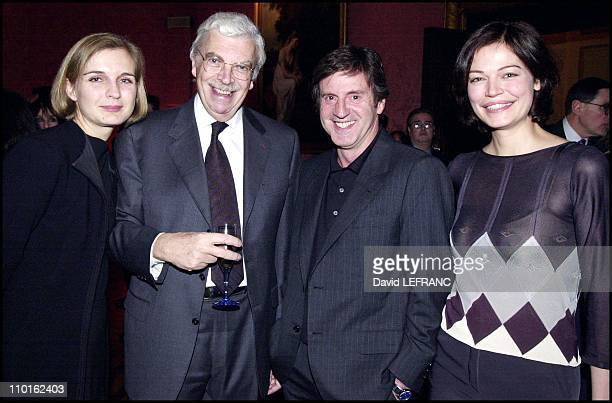 Daniel Auteuil Daniel Toscan du Plantier and partners at Rendez vous with French cinema 2001 in New York United States on March 13 2001