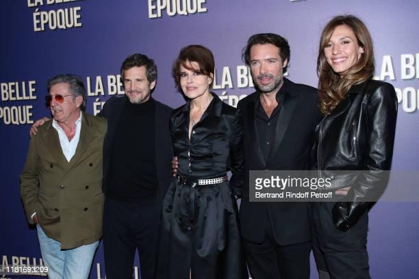 Daniel Auteuil Guillaume Canet Fanny Ardant Nicolas Bedos and Doria Tillier attend the La Belle Epoque Premiere at cinema Gaumont Opera Capucines on...