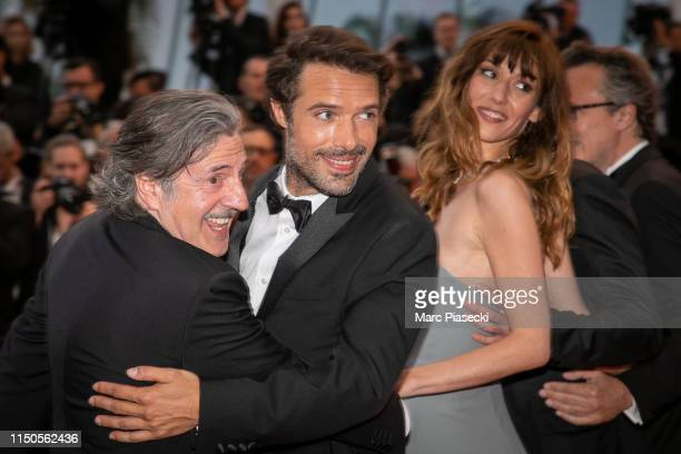 Daniel Auteuil Nicolas Bedos and Doria Tillier attend the screening of Le Belle Epoque during the 72nd annual Cannes Film Festival on May 20 2019 in...