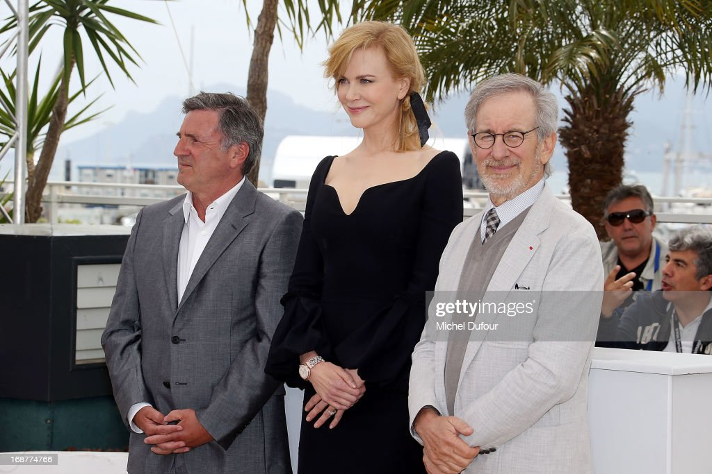 Daniel Auteuil, Nicole Kidman and Steven Spielberg attend the Jury Photocall during the 66th Annual Cannes Film Festival on May 15, 2013 in Cannes, France.