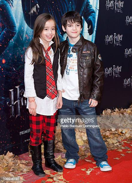 Daniel Aviles and Priscila Delgado attend 'Harry Potter and the Deathly Hallows Part 1' Photocall at Kinepolis Cinema on November 17 2010 in Madrid...