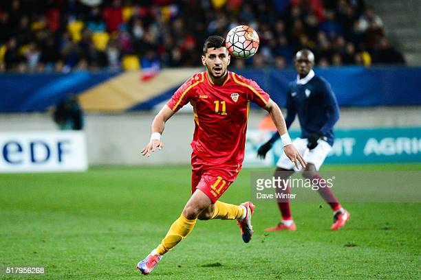 Daniel Avramovski of Macedonia during the Uefa U21 European Championship 2017 qualifier between France and Macedonia on March 28 2016 in Le Mans...