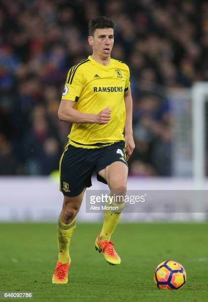 Daniel Ayala of Middlesbrough during the Premier League match between Crystal Palace and Middlesbrough at Selhurst Park on February 25 2017 in London...