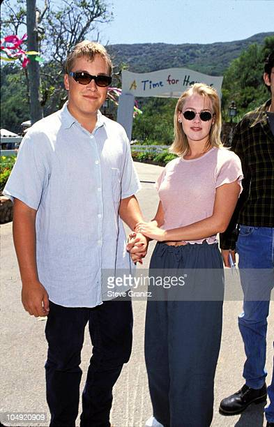 Daniel B Clark Jennie Garth during Pediatric Aids Event A Time For Heroes at Private House in Bel Air California United States