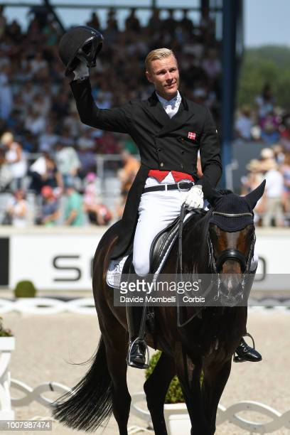 Daniel Bachmann Andersen of Denmark riding Blue Hors Zack during the dressage individual Final Grand Prix of Aachen Freestyle to music CDIO Deutsche...
