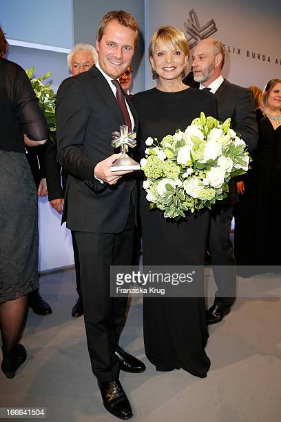 Daniel Bahr and Uschi Glas attend the Felix Burda Award 2013 at Hotel Adlon on April 14 2013 in Berlin Germany